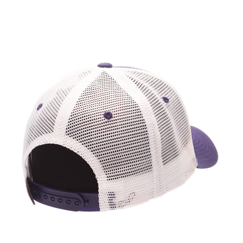 Texas Christian University Big Rig Standard (Low) (TCU) Purple Dark 100% Cotton Twill Adjustable hats by Zephyr