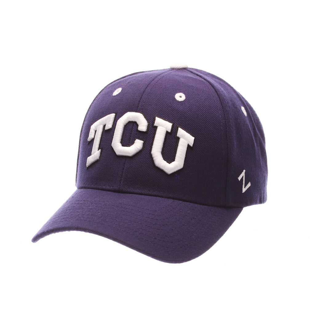 Texas Christian University Competitor Standard (Low) (TCU) Purple Dark Zwool Adjustable hats by Zephyr