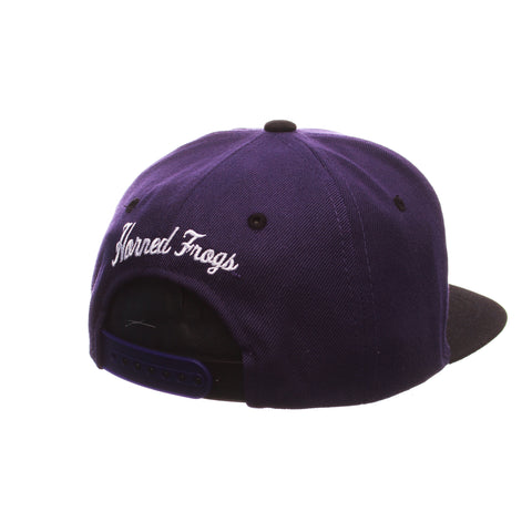 Texas Christian University Z11 Youth 32/5 Youth (TCU) Purple Dark ZClassic Adjustable hats by Zephyr