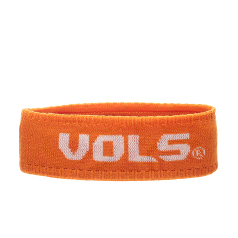 Tennessee (Knoxville) Halo Headband (VOLS) Orange Light/White Knit Adjustable hats by Zephyr