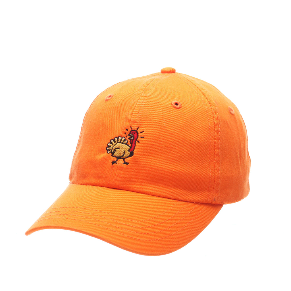 Dad Hat (TURKEY) Orange Light Washed Adjustable hats by Zephyr