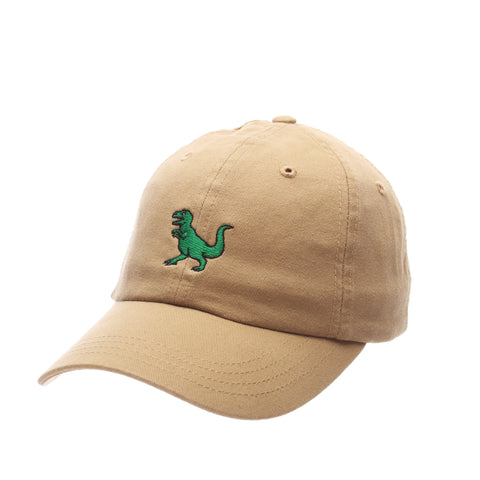Dad Hat (T REX) Khaki Washed Adjustable hats by Zephyr