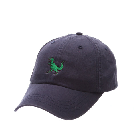 Dad Hat (T REX) Navy Dark Washed Adjustable hats by Zephyr