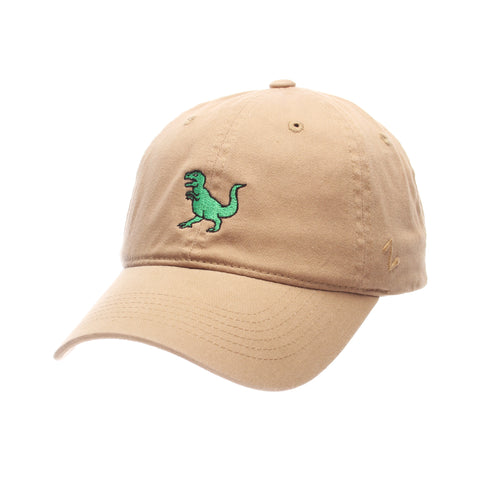 1bface6ef5e1c Dad Hat (T REX) Khaki Washed Adjustable hats by Zephyr