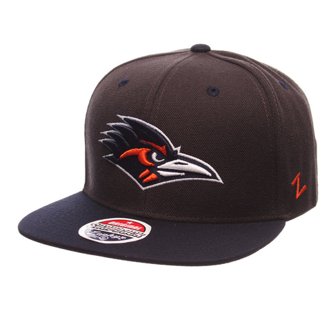 Texas (San Antonio) Z11 32/5 (High) (ROADRUNNER HEAD) Gray Confederate Zwool Adjustable hats by Zephyr