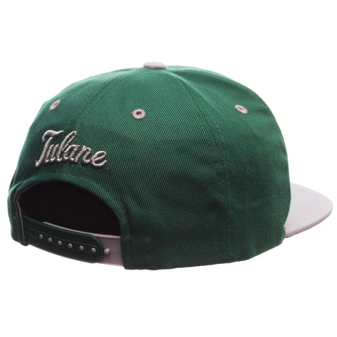 Tulane University Z11 32/5 (High) (T WAVE) Forest Light Zwool Adjustable hats by Zephyr
