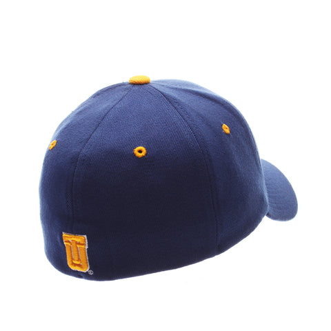 Tulsa ZHS Standard (Low) (TULSA W/ FLAG) Royal Zwool Stretch Fit hats by Zephyr