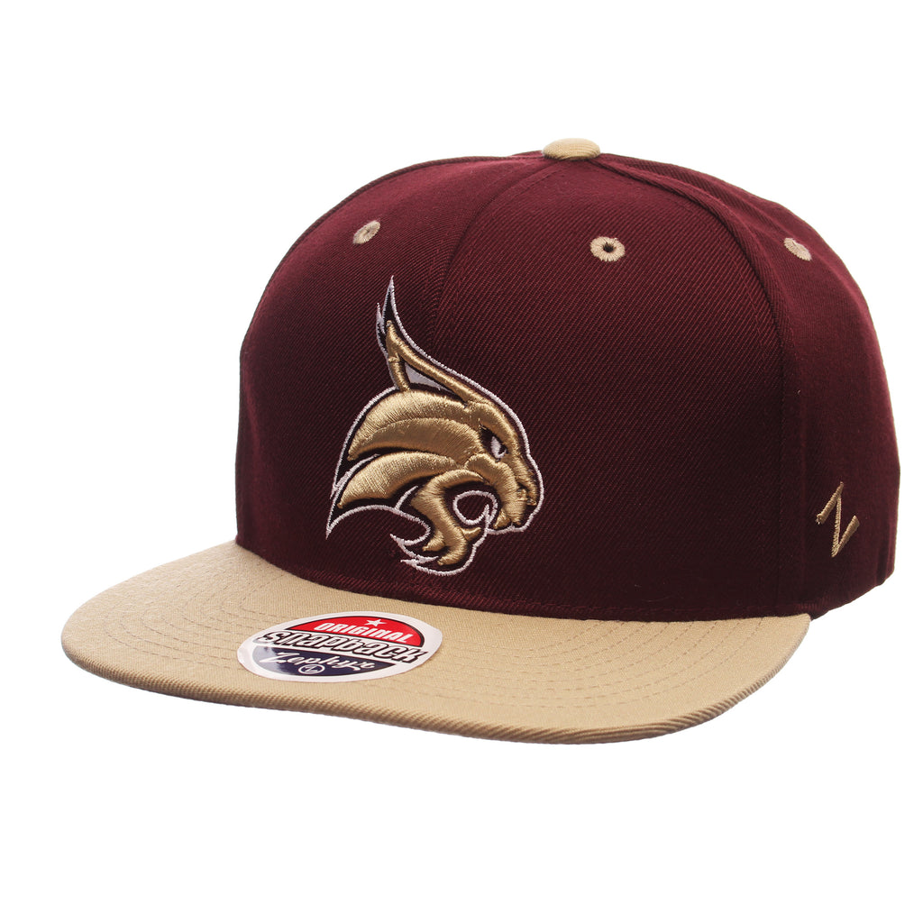 Texas State University Z11 32/5 (High) (BOBCAT) Maroon Zwool Adjustable hats by Zephyr