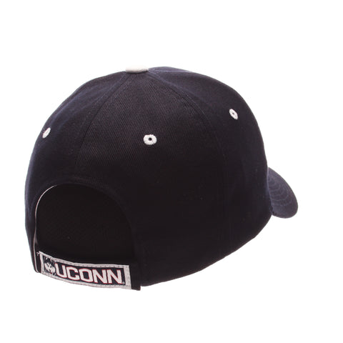 Connecticut (UCONN) Competitor Standard (Low) (UCONN) Navy Dark Zwool Adjustable hats by Zephyr