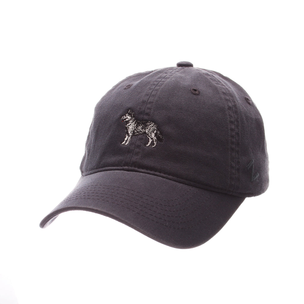Connecticut (UCONN) Dad Hat NCAA Standard (Low) (HUSKY) Navy Dark Washed Adjustable hats by Zephyr