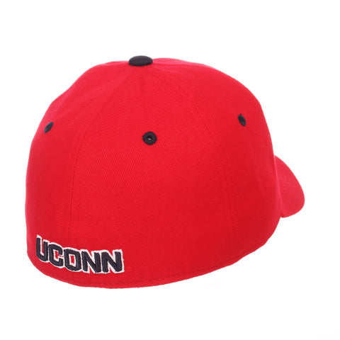 Connecticut (UCONN) DH (HUSKY) Red ZClassic Fitted hats by Zephyr