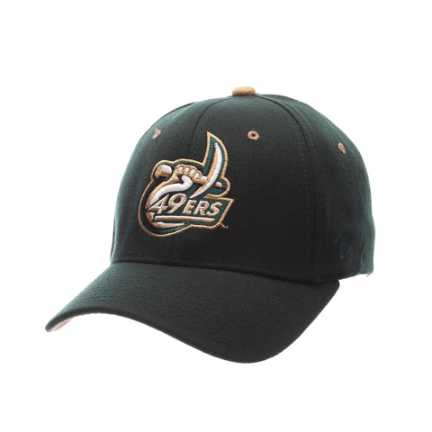 North Carolina (Charlotte) ZHS (C W/49ERS) Forest Dark Zwool Stretch Fit hats by Zephyr