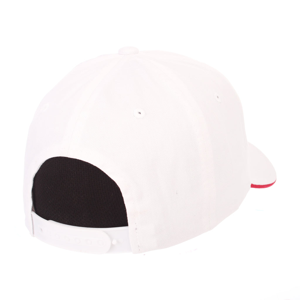 Nevada (Las Vegas) Crossover Standard (Low) (UNLV/REBEL HEAD) White 100% Cotton Twill Adjustable hats by Zephyr