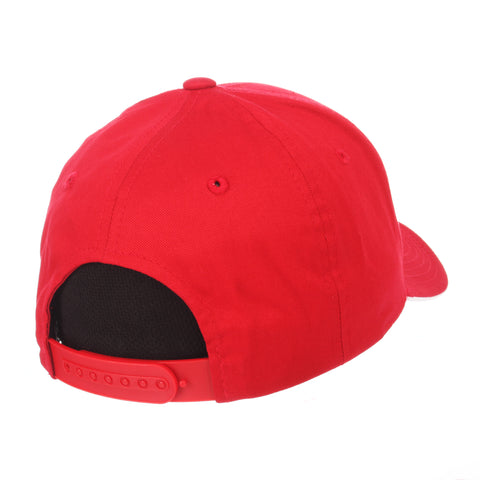 Nevada (Las Vegas) Crossover Standard (Low) (UNLV/REBEL HEAD) Red 100% Cotton Twill Adjustable hats by Zephyr