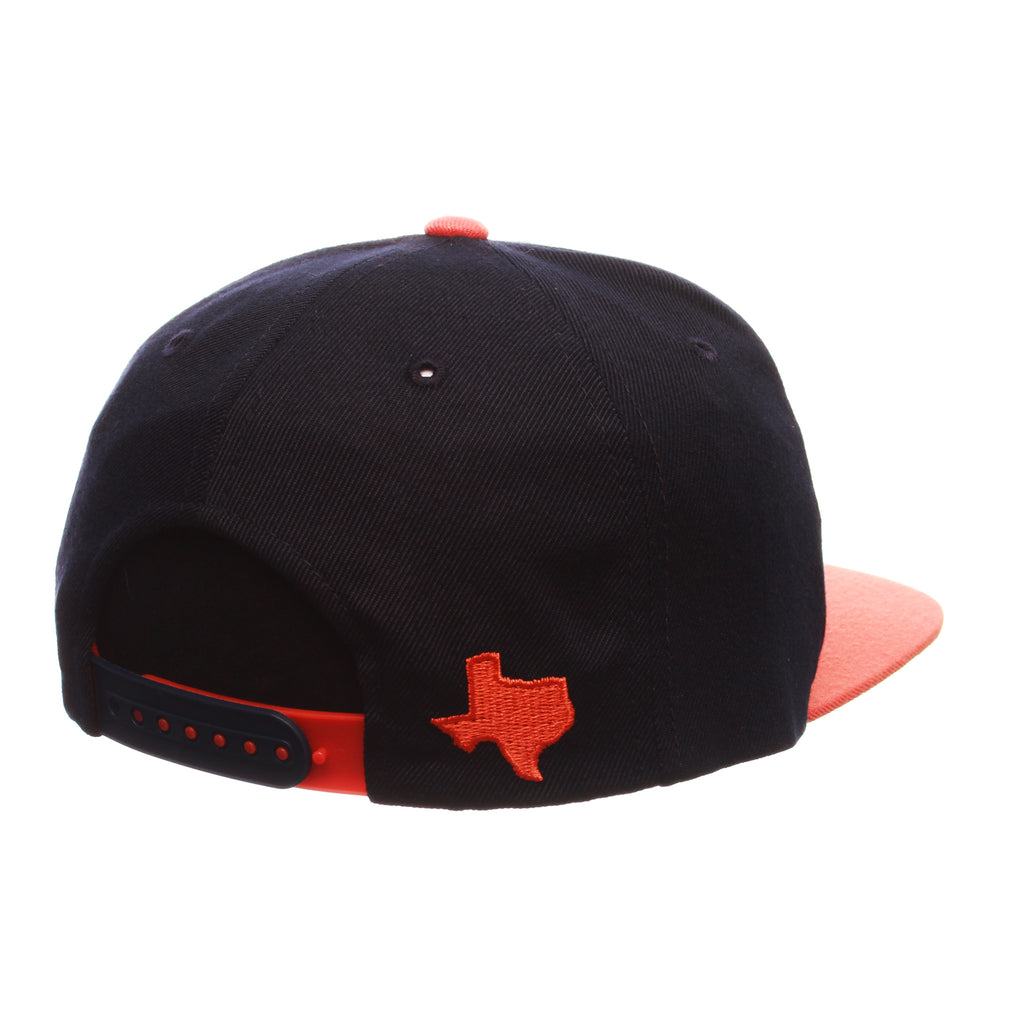 Texas (El Paso) Custom Adj 32/5 (High) (UTEP FLAG) Navy Dark Zwool Adjustable hats by Zephyr