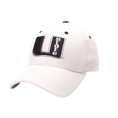 Utah State University ZHS (U STATE) White Zwool Stretch Fit hats by Zephyr