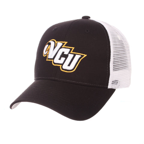 Virginia Commonwealth University Big Rig (VCU) Black 100% Cotton Twill Adjustable hats by Zephyr