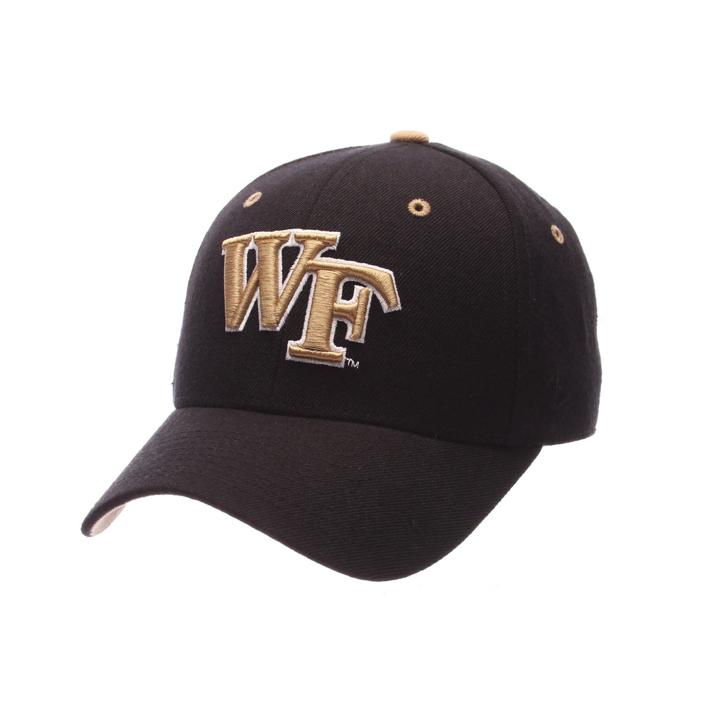 Wake Forest University DH (WF) Black Zwool Fitted hats by Zephyr