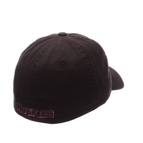 Washington Scholar Standard (Low) (W) Black Washed Fitted hats by Zephyr
