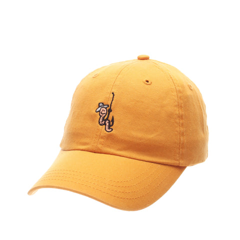 Dad Hat (WORM W/HOOK) Gold Washed Adjustable hats by Zephyr