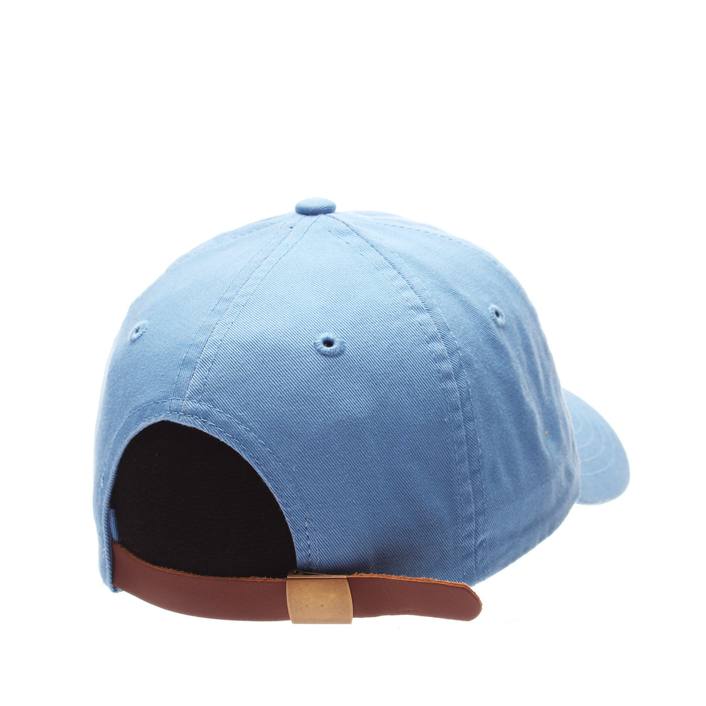 Dad Hat (WORM W/HOOK) Blue Light Washed Adjustable hats by Zephyr
