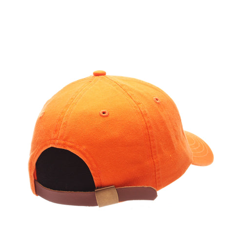 Dad Hat (WORM W/HOOK) Orange Light Washed Adjustable hats by Zephyr