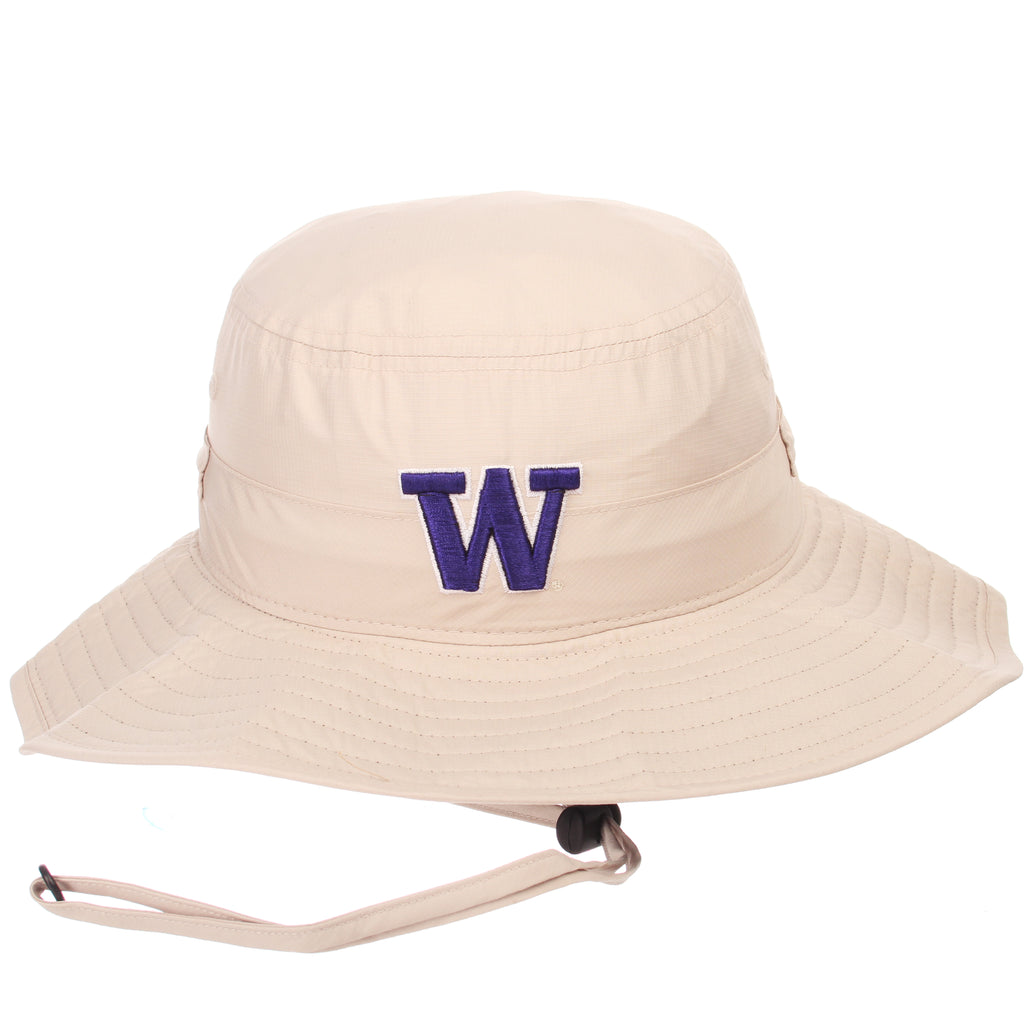 Washington Custom Bucket(Bungee) (W) Stone Golden Aerolite Ripstop Stretch Fit hats by Zephyr