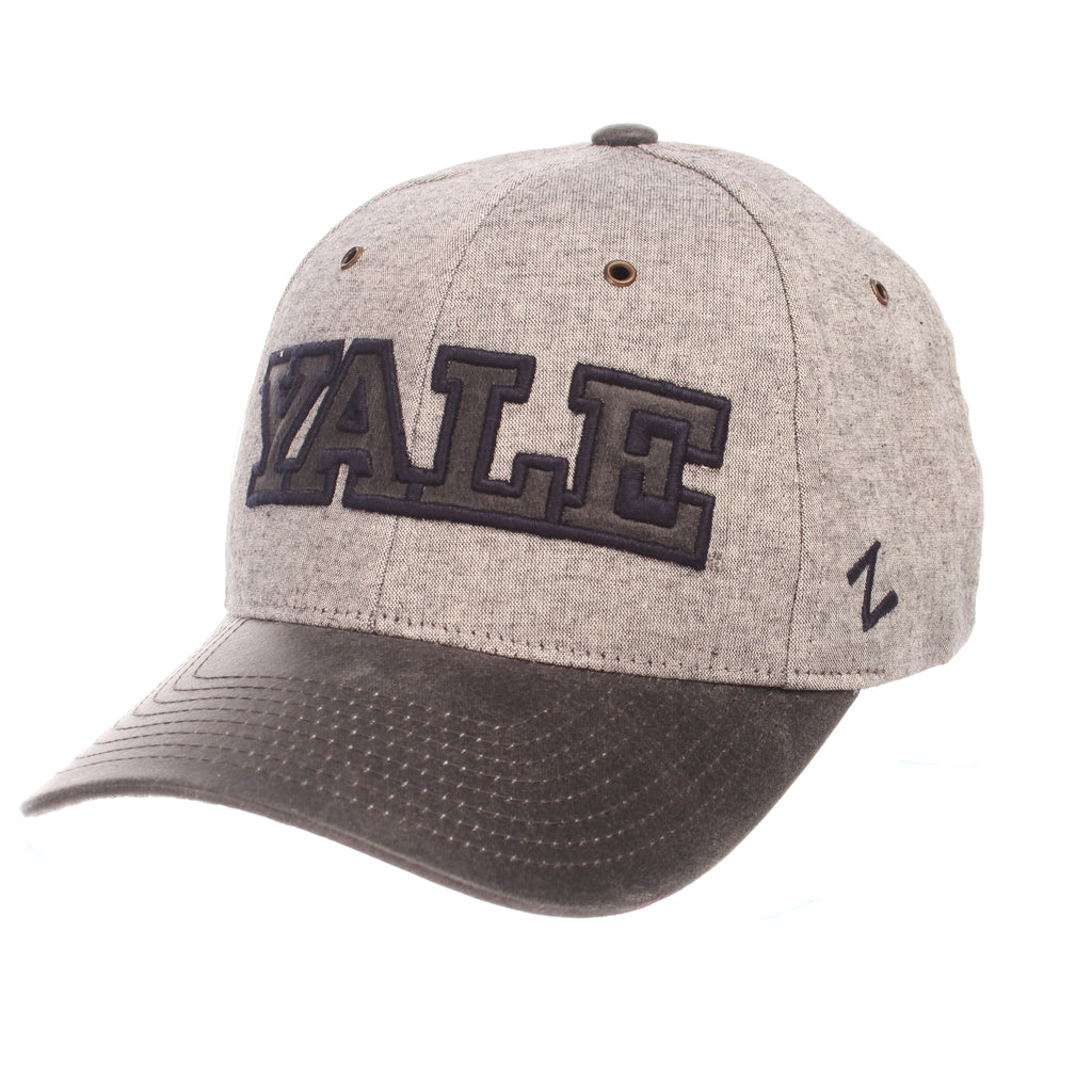 Yale University Supreme Standard (Low) (YALE) Gray Medium Suit Adjustable hats by Zephyr
