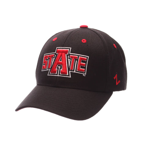 Arkansas State University Competitor Standard (Low) (STATE) Black Zwool Adjustable hats by Zephyr