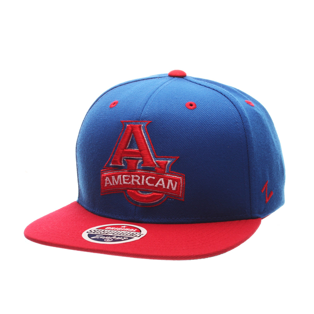 American University Z11 32/5 (High) (AU W/AMERICAN) Royal Surf Zwool Adjustable hats by Zephyr