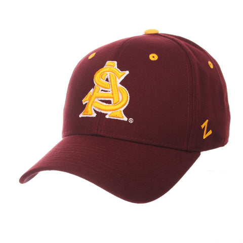 Arizona State University DH Standard (Low) (AS) Maroon Zwool Fitted hats by Zephyr