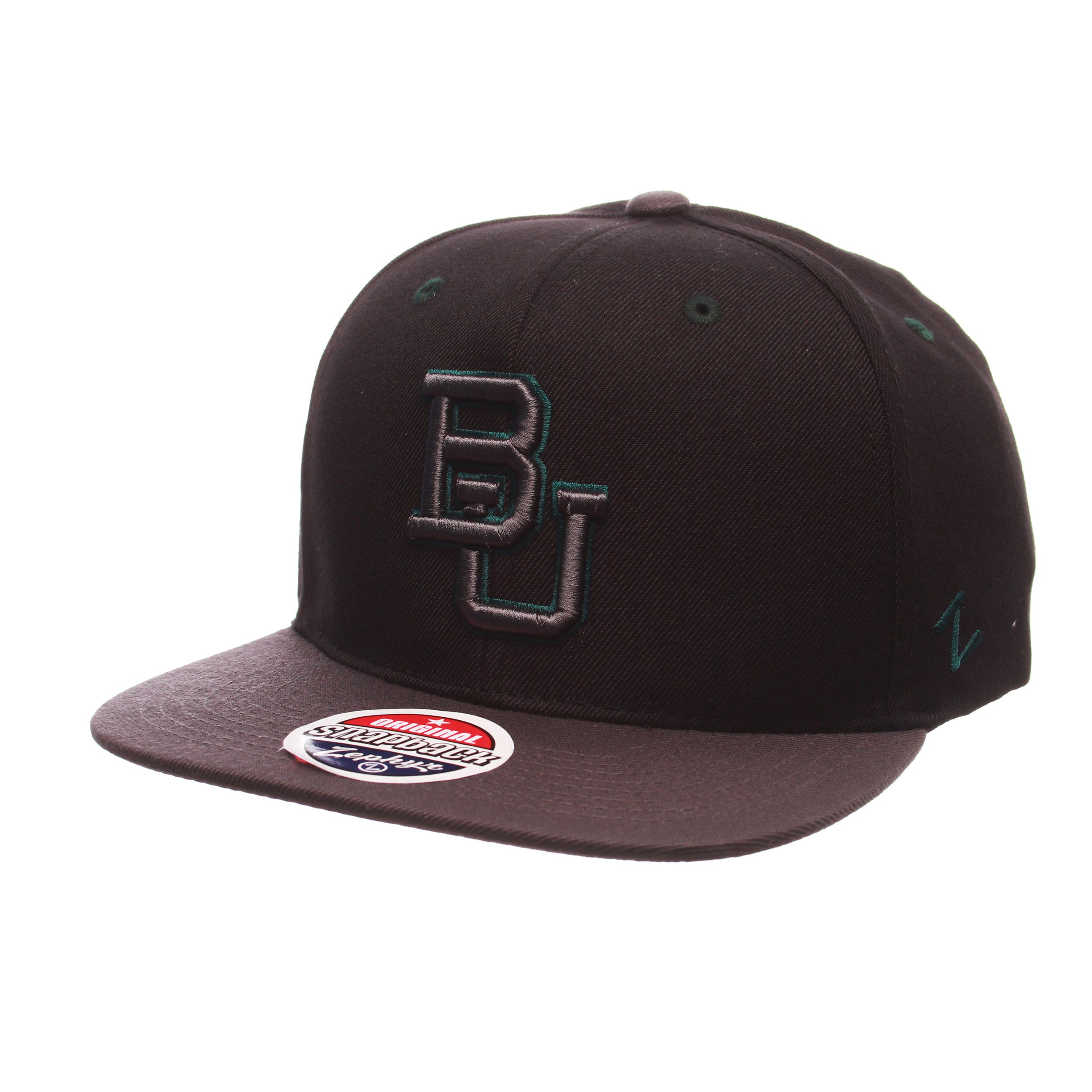 Baylor University Z11 Blackout 32/5 (High) (BU) Black Zwool Adjustable hats by Zephyr