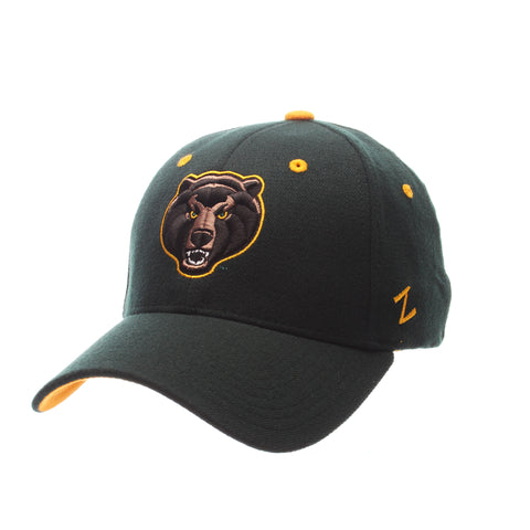 Baylor University ZHS Standard (Low) (BEAR HEAD) Forest Dark Zwool Stretch Fit hats by Zephyr