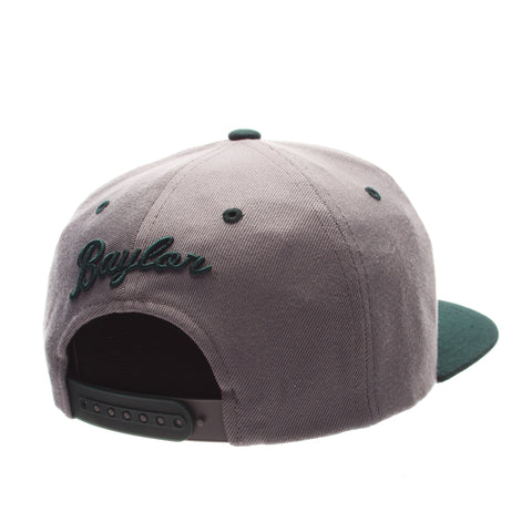 Baylor University Z11 Slate 32/5 (High) (BEAR HEAD) Gray Medium Zwool Adjustable hats by Zephyr