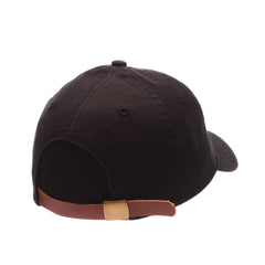 Dad Hat (BACON) Black Washed Adjustable hats by Zephyr