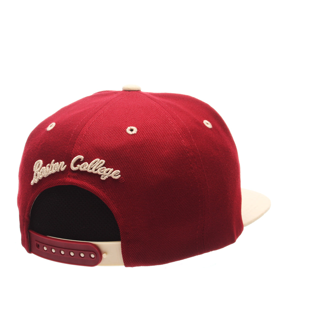 Boston College Z11 32/5 (High) (BC W/EAGLE) Cardinal Zwool Adjustable hats by Zephyr