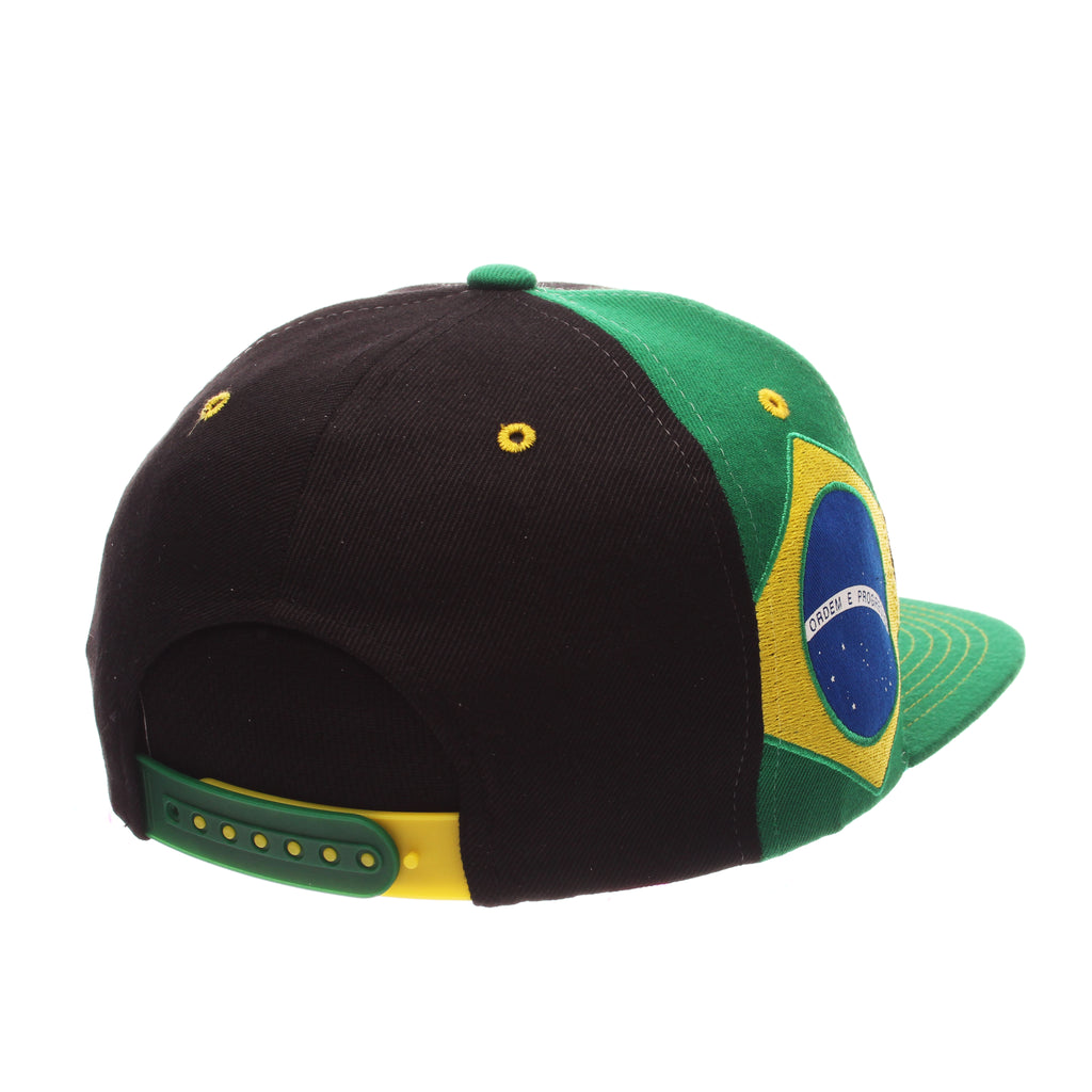 COUNTRY Victory 32/5 (High) (BRASIL W/LINES) Black Zwool Adjustable hats by Zephyr