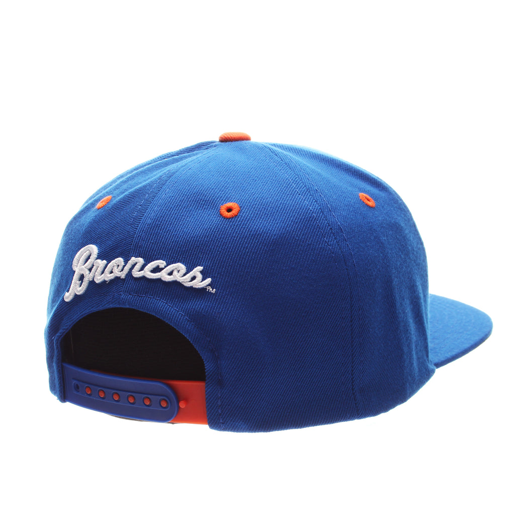 Boise State University Z11 32/5 (High) (BUSTER) Royal Surf Zwool Adjustable hats by Zephyr