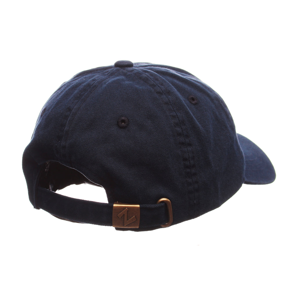Brigham Young University Scholarship Z Standard (Low) (Y OVAL) Navy Dark Washed Adjustable hats by Zephyr