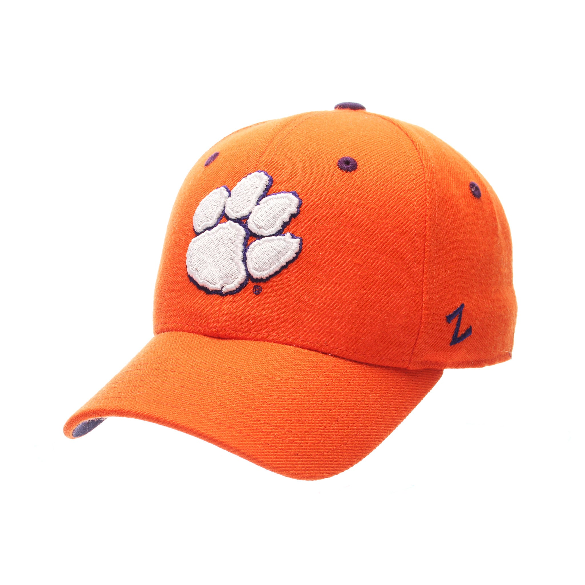 Clemson University DHS Standard (Low) (PAW) Orange Zwool Fitted hats by Zephyr