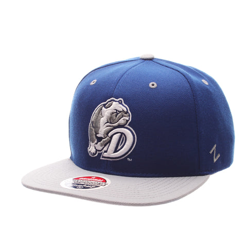 Drake University Z11 32/5 (High) (BULLDOG W/D) Royal Zwool Adjustable hats by Zephyr