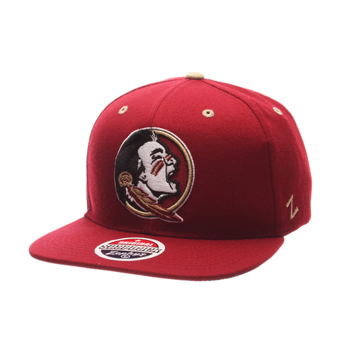 Florida State University Z11 32/5 (High) (SEMINOLE) Cardinal Zwool Adjustable hats by Zephyr