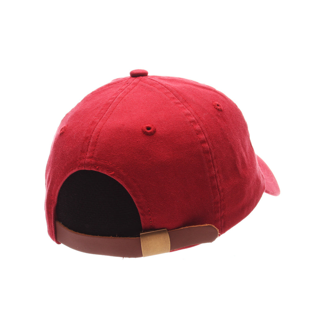 Dad Hat (GINGERBREAD MAN) Red Washed Adjustable hats by Zephyr
