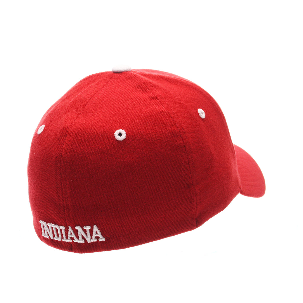 Indiana University (Bloomington) ZH Standard (Low) (IU) Red Dark Zwool Stretch Fit hats by Zephyr