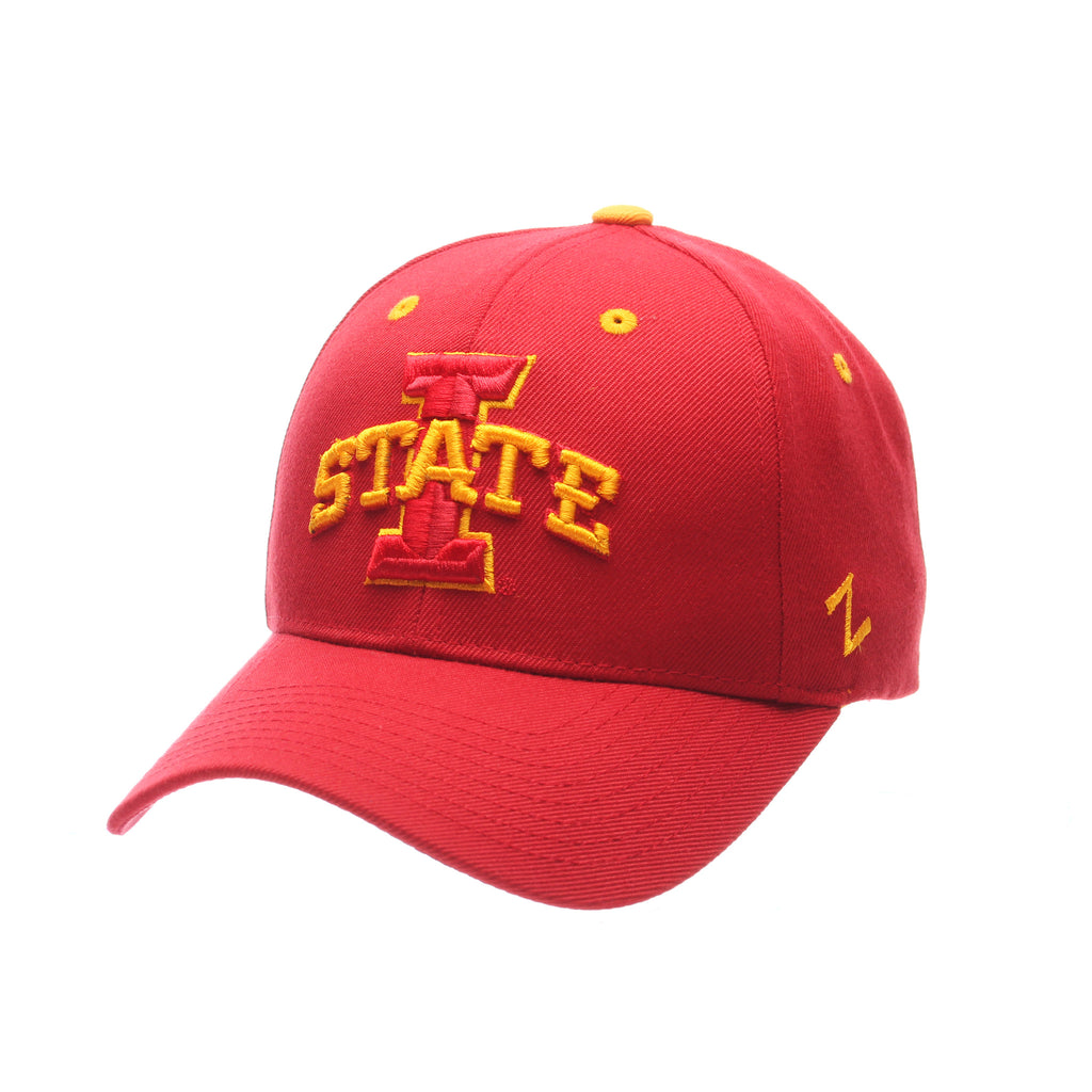Iowa State University Competitor Standard (Low) (I W/STATE) Red Dark Zwool Adjustable hats by Zephyr