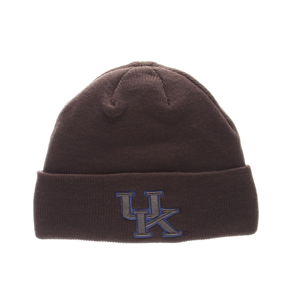 Kentucky Pop Knit Knit (Fold) (UK) Gray Confederate Knit Adjustable hats by Zephyr