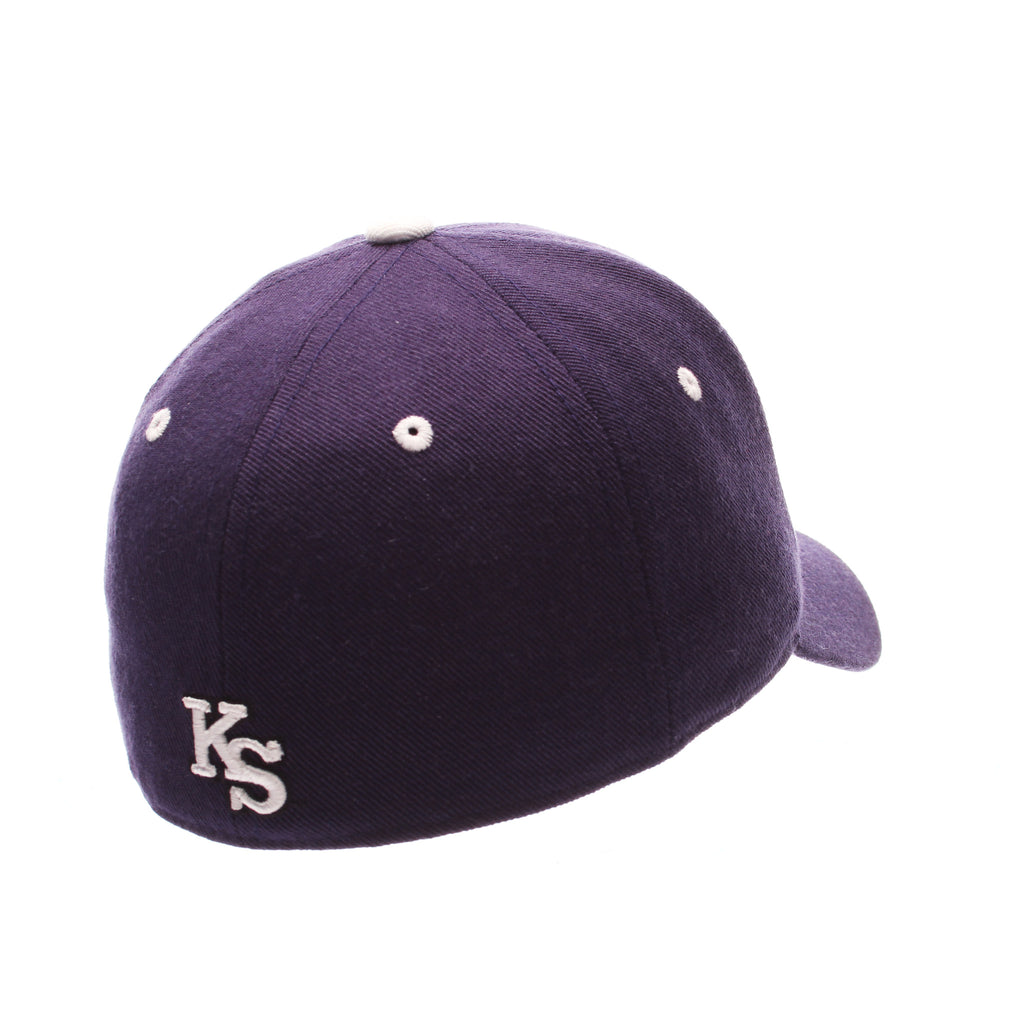 Kansas State University DHS Standard (Low) (WILDCAT LOGO) Purple Dark Zwool Fitted hats by Zephyr