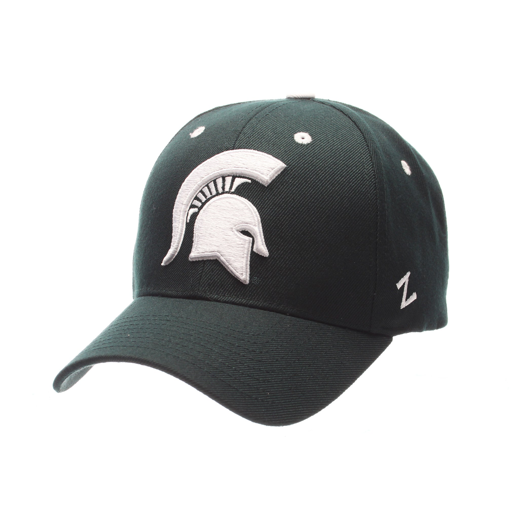Michigan State University Competitor Standard (Low) (SPARTAN) Forest Dark Zwool Adjustable hats by Zephyr