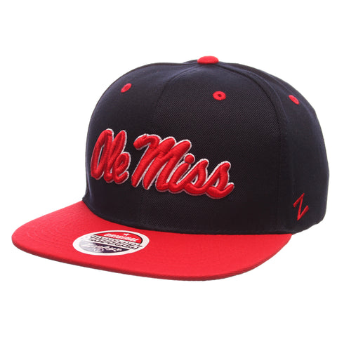 Mississippi Z11 32/5 (High) (OLE MISS) Navy Dark Zwool Adjustable hats by Zephyr