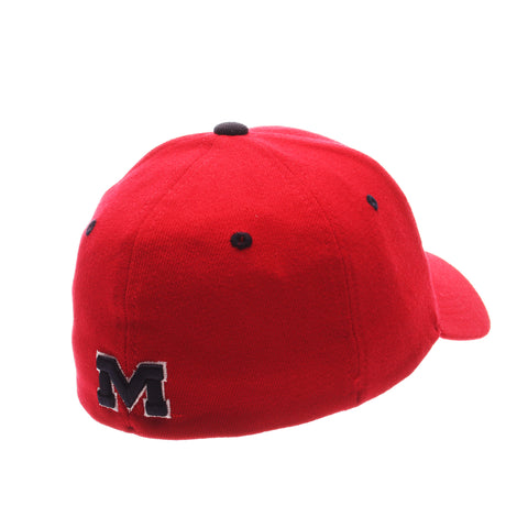 Mississippi ZHS Standard (Low) (OLE MISS) Red Zwool Stretch Fit hats by Zephyr
